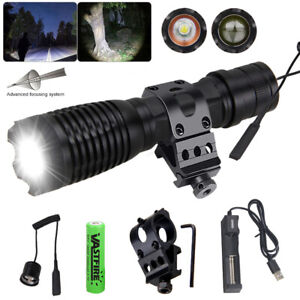 Taschenlampe LED Adjustable Tactical Night Zoomable Hunting light 350Yards