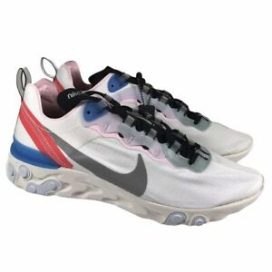 Nike Element 55 Blue Hero Silver White Running Shoes CK4462-100 Womens Size 9.5
