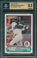 1990 Score Young Superstars II #25 SAMMY SOSA ROOKIE RC  BGS 9.5 [BBE]