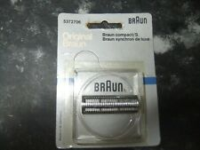 ORIGINAL BRAUN SHAVER FOIL REPLACEMENT CUTTER HEAD, COMPACT, SYNCHRON, NEW