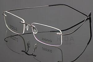 Titanium Alloy Rimless Eyeglass Frame Men WOmen Glasses Spectacles Myopia Optic