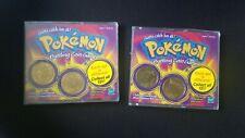 Rare Vintage Lot of 2 Sealed Pokemon Battling Coin Game Hasbro 1999