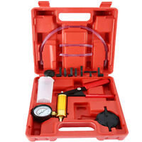 Universal Brake Fluid Bleeder Hand Held Vacuum Pistol Pump Tester Tool Set