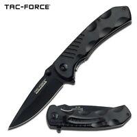 Tac-Force Assisted Opening Liner Lock Folding Pocket Knife, Plain Edge Blade