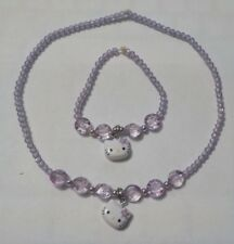 Child's 2009 Hello Kitty Sanrio Stretch Necklace & Stretch Bracelet Set