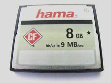 8GB Compact Flash Card ( 8 GB CF Karte ) HAMA gebraucht