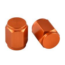 Orange CNC Tire Valve Stem Caps for KTM EXC/EXC-F/MXC/MSR/SX/SX-F/SXS/XC/XC-F