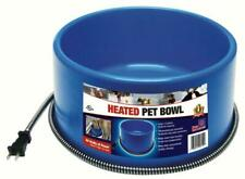 FI HEATED ELECTRIC DOG CAT PET WATER BOWL DISH OUTDOOR WATERER BLUE 1.5 GAL