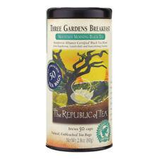 The Republic Of Tea Three Gardens Breakfast Black Tea 50 Natural Tea Bags