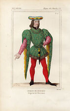 COSTUME DE LA FRANCE XVe / CHARLES DE MONTAIGU Seigneur de Marcoussi