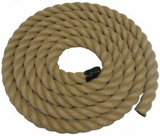 10MTS x 32MM THICK FOR GARDEN DECKING ROPE, POLY HEMP, HEMPEX, SYNTHETIC HEMP