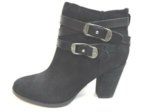 Reba Size 8 Black Leather Ankle Boots New Womens Shoes