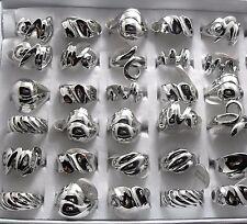 30pcs Silver Mixed Women Ladies Fashion Alloy Rings Wholesale Jewelry job lot