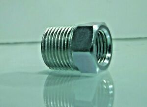NPT Male to NPT Female Steel Thread Adapters , NPT Nipple x NPT Bush Hydraulic