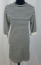 Topshop women 2 striped shift dress 3/4 sleeve