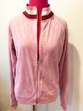 JUICY COUTURE PINK STRIPE VELOUR JACKET-XL