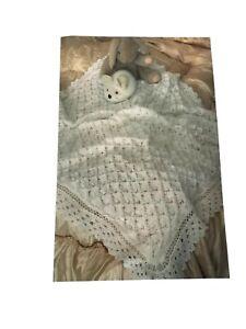 Hermoso Bebé matiné Abrigo /& Bonnet Set Vintage Cochecito Tejer patrón 2 3 capas