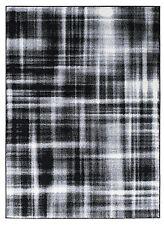 Teppich Kurzflor Hochwertig Muster 5846-Schwarz Grau Weiß 80 120 140 160 200