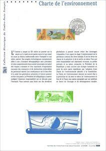 Timbre 1er jour sur document philatélique  - CHARTE DE L'ENVIRONNEMENT - 2005