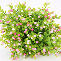Artificial Green Leaves Plants Plastic Small Flower Home Garden Branch 5 Heads