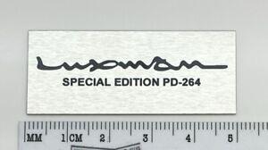 Luxman Special Edition PD-264 Custom Made Aluminum Badge Logo
