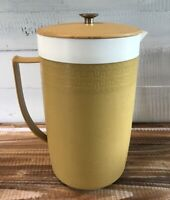 Vintage 1970's Olympian Gold/White Therm-O-Ware Water Pitcher 2 Qt