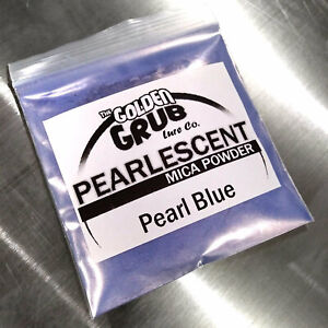 NEW 1 OZ. PEARL BLUE with Pink Sheen Pearly Mica Powder Fishing Plastisol
