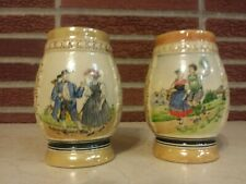 New listing 2 Vintage Beer Steins. Both Marked 4128 On The Bottom with Rm. See pics!