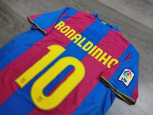 [Retro] - Barcelona Home 50th Anniversary 2006/07 with 10 RONALDINHO Size XL