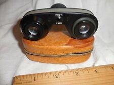 Mini binoculars Lupinus Achrmatic Optics 2X20 N0 4683 with case. Made in Japan