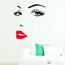 Sexy Girl Lip Eyes Wall Stickers Living Bedroom Decoration Diy Vinyl Home Decals