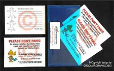 DOG GROOMING *50 DON'T PANIC CARDS* stationery by GROOMERGRAPHIX