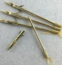 6PCS Gold Fishing Harpoon Slingshot Bullet Spear Prong Barbed Gig Hunting Tools