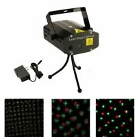 Green Red Motion Mini Laser Light Projector Strobe Sound Activated Christmas DJ