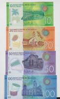 FOUR 2014 BANKNOTES FROM NICARAGUA IN MINT CONDITION.