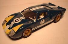 qq SCX SPAIN SCALEXTRIC ALTAYA COCHES MITICOS FORD GT 40  No 6 DARK BLUE L. E.