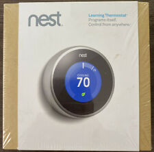 NEW Nest Learning Thermostat Stainless Steel