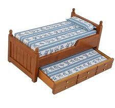 Dolls house bed in 1:12 scale