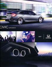 2017 Honda Civic Hatchback Original Car Sales Brochure Catalog