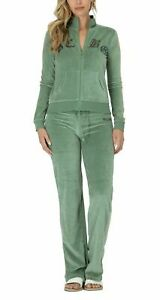 BCBG MAXAZRIA, Stone Detail Cross Zip up Jacket & Pant Set BCV11089J/P EUC