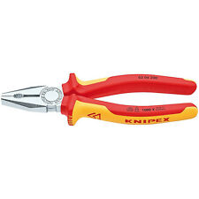 Knipex 200mm Combination Pliers 1000V VDE Insulated 03 06 200