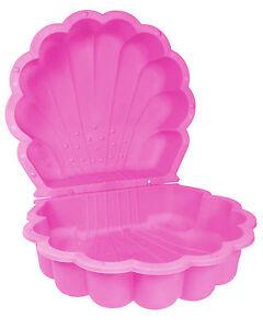 Ondis24 Sandkasten Sandmuschel Wassermuschel Planschbecken pink 2-tlg abdeckbar