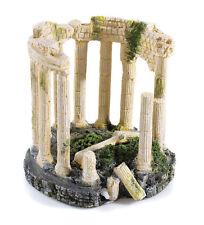 Roman Greek Ancient Ruin with Air Stone Base Aquarium Ornament Decoration