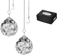 Merrynine Clear Crystal Ball Prism Suncatcher Rainbow Pendants Maker, Hanging Cr
