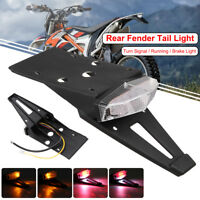 Universal Integrated Motorcycle Rear Fender LED Brake Stop Turn Tail Light Lamp
