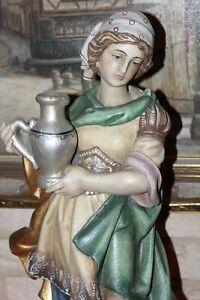 große Holzfigur Heilige Elisabeth 60cm Heiligenfigur Südtirol