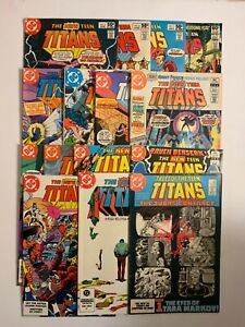 New Teen Titans vol 1 -15 issue lot - NIGHTWING DEATHSTORKE - COMBINED SHIPPING