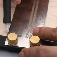 Scale Ruler T-type Hole Stainless Scribing Woodworking Mark Gauge Line M5E7