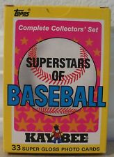 """TOPPS """"KAYBEE"""" BASEBALL CARDS SET OF 33; DON MATTINGLY, BOGGS, CONSECO, MCGWIRE"""