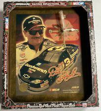 """Vintage NASCAR Racing Dale Earnhardt Goodwrench GM Wood Wall Clock Plaque 12"""""""